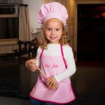 Light Pink Chef Apron & Hat