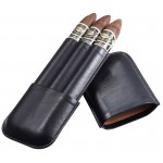 Honor Black Synthetic Leather Cigar Case