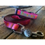 "Orange/Pink Silly Dots 5/8"" Width Dog LEAD"