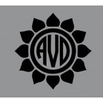 5 inch Sunflower Vinyl Monogram decal (1 piece)