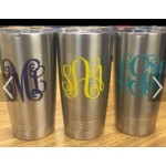 3 inch high monogram decal (3 pieces for the price of 2)
