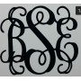 2 inch high Monogram Decal (3 pieces for the price of 2)