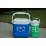 4 inch high Monogram Decal (3 pieces for the price of 2)