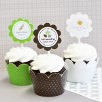 Personalized Fall Cupcake Wrappers & Cupcake Toppers (Set of 24)