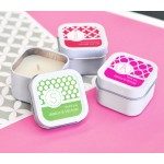 MOD Pattern Monogram Square Candle Tins