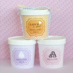"""Love is Sweet"" Mini Ice Cream Containers"
