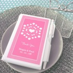 """Personalized """"Snowy Notes"""" Notebook Favors"""