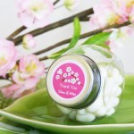Personalized Cherry Blossom Candy Jars