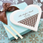 """The Perfect Match"" Personalized Heart Matchbooks"