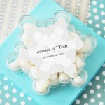 """A Winter Holiday"" Snowflake Acrylic Favor Boxes"