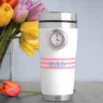 Personalized Tumbler with clock