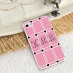 Perky Pink iPhone Case with White Trim
