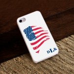 Proud to Be an American iPhone Case with White Trim