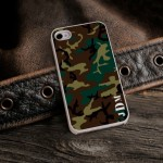 Camouflage iPhone Case with White Trim