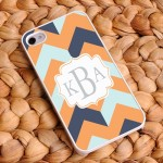 """Fabulous Fashionista"" Chevron iPhone Case"