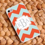 """Tangerine Sky"" Personalized Chevron iPhone Case"