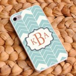 """Sea Mist"" Personalized Chevron iPhone Case"