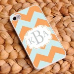 """Sherbet Ice"" Personalized Chevron iPhone Case"
