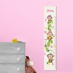 Personalized Pretty Monkeys Height Chart