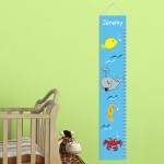 Personalized Under the Sea Height Chart