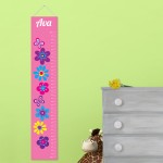 Personalized Frilly Floral Height Chart