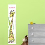 Personalized Girly Growing Giraffe Height Chart