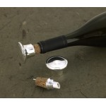 Personalized Silver Plated Wine Bottle Stopper/Pourer
