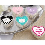 Heart Favor Container- Wedding (Set of 12) (Available Personalized)