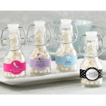 Mini Glass Favor Bottle with Swing Top -Wedding (Set of 12) (Available Personalized)