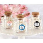 """Petite Treat"" Square Glass Favor Jar - Wedding (Set of 12) (Available Personalized)"
