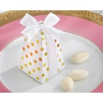 """Confetti"" Gold Dot Favor Box (Set of 24) (Available Personalized)"