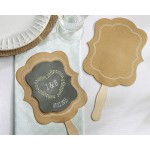 Kraft Hand Fan (Personalization Available) (Set of 12)