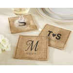 Artisanal Burlap Coasters (Personalization Available)