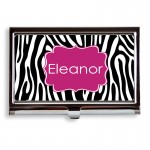 Zebra Print Business Card Case or Holder