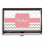 Petals Chevron Pattern Business Card Case/Holder