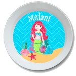 Little Miss Mermaid Girls Personalized Bowl