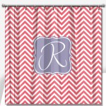 Personalized Shower Curtain Chevron Sleek