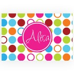 Bright Dots Personalized Kitchen, Bed or Bath Rug