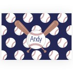 Baseball Personalized Kitchen, Bed or Bath Rug