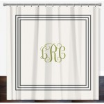 Classic Monogram Personalized Shower Curtain