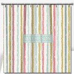 Painted Stripes Personalized Shower Curtain