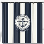 Brielle Stripe Pattern Personalized Shower Curtain