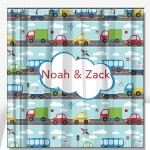 Cars Boys Personalized Shower Curtain