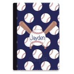 Baseball Personalized iPad Folio Case