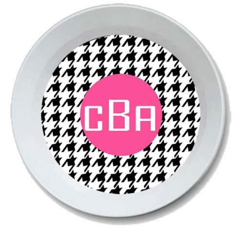 Houndstooth Personalized Bowl