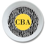 Zebra Personalized Bowl