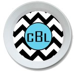 Chevron Personalized Bowl