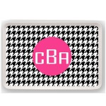 Houndstooth Personalized Tray