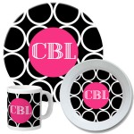 Hoops Personalized Dinnerware Set
