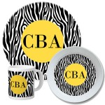 Zebra Personalized Dinnerware Set